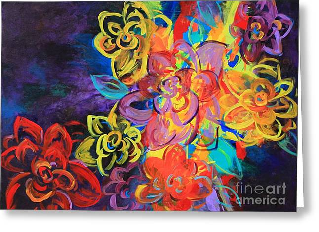 Bright Flowers Greeting Card by Sabra Chili