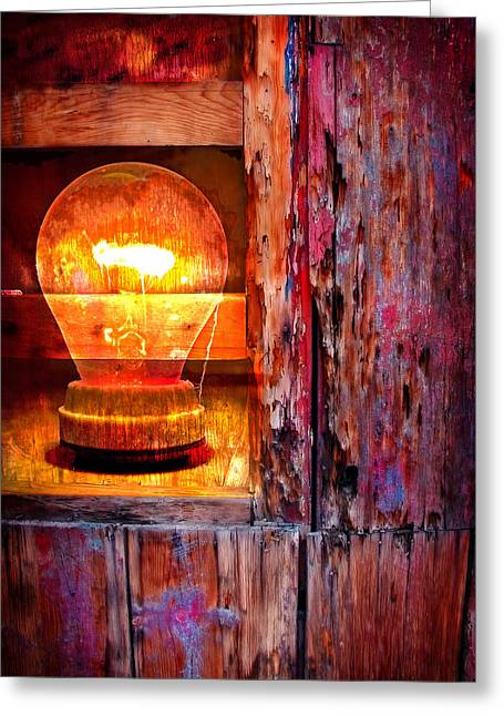 Greeting Card featuring the photograph Bright Idea by Skip Hunt