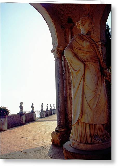 Sienna Italy Greeting Cards - Bright Light Ravello Greeting Card by Martin Sugg
