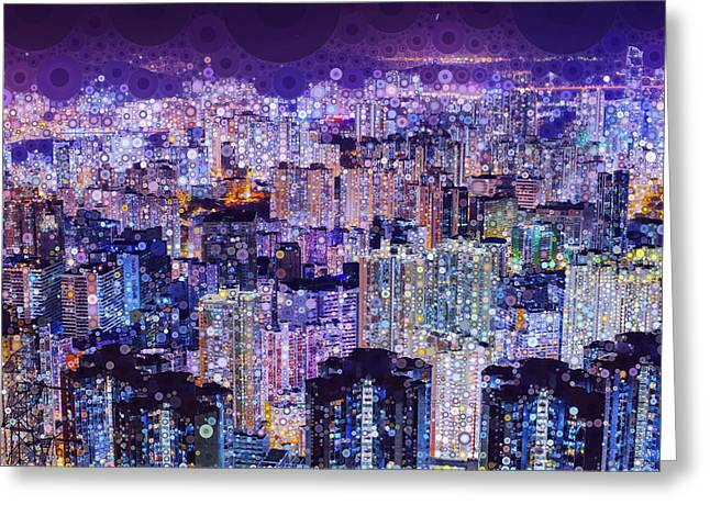 Bright Lights, Big City Greeting Card