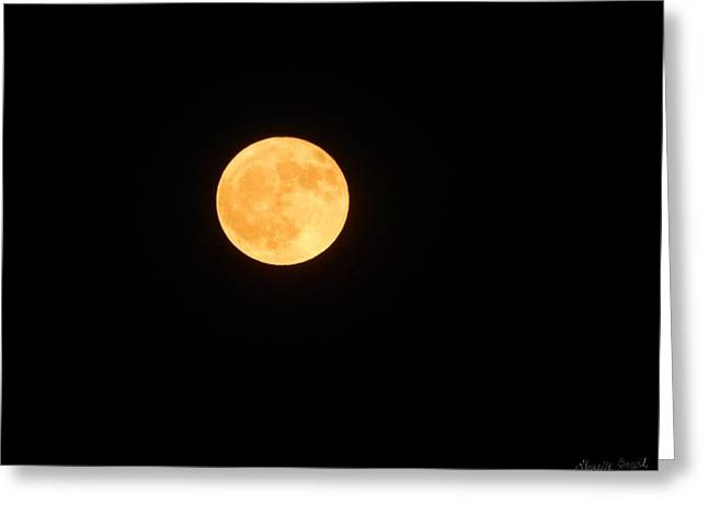Bright Orange Moon Greeting Card