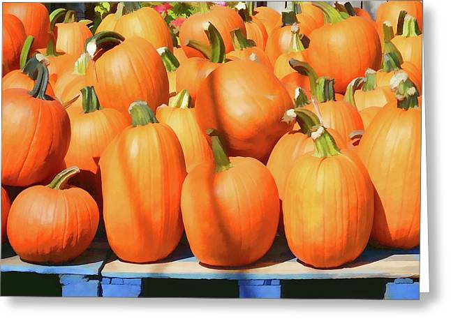 Bright Orange Pumpkins Greeting Card by Lanjee Chee