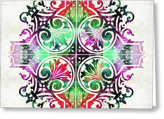 Bright Pattern Art - Color Fusion Design 9 By Sharon Cummings Greeting Card by Sharon Cummings