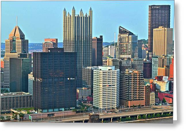 Bright Pittsburgh Day Greeting Card by Frozen in Time Fine Art Photography