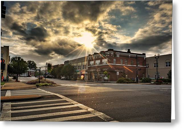 Bright Sun In Murphy North Carolina Greeting Card by Greg Mimbs