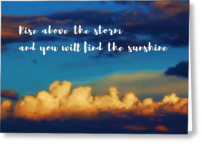 Bright Sunshine Above Storm Clouds Greeting Card