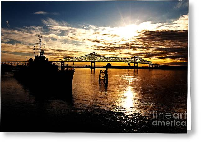 Bright Time On The River Greeting Card by Scott Pellegrin