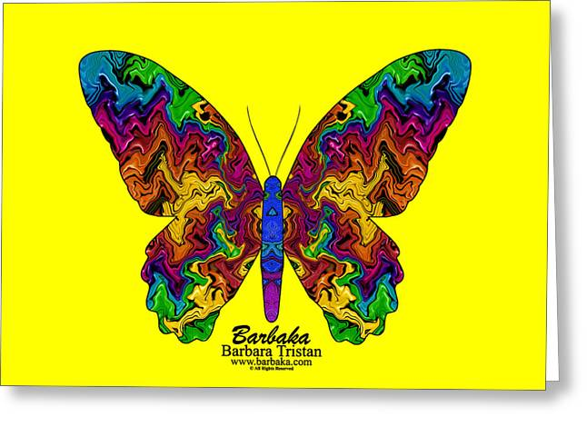 Greeting Card featuring the digital art Bright Transformation by Barbara Tristan