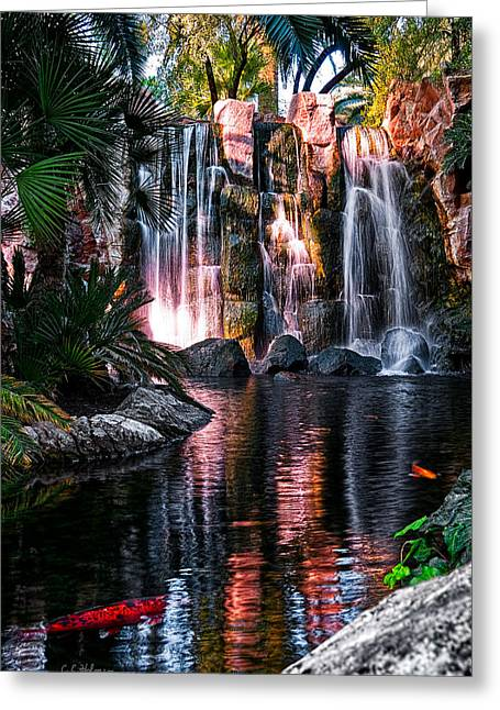 Bright Waterfalls Greeting Card