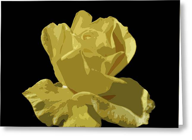 Greeting Card featuring the photograph Bright Yellow Beauty by Laurel Powell