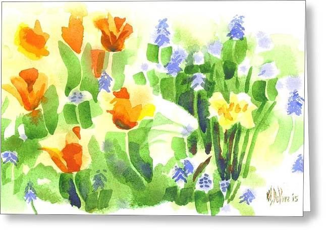 Brightly April Flowers Greeting Card by Kip DeVore