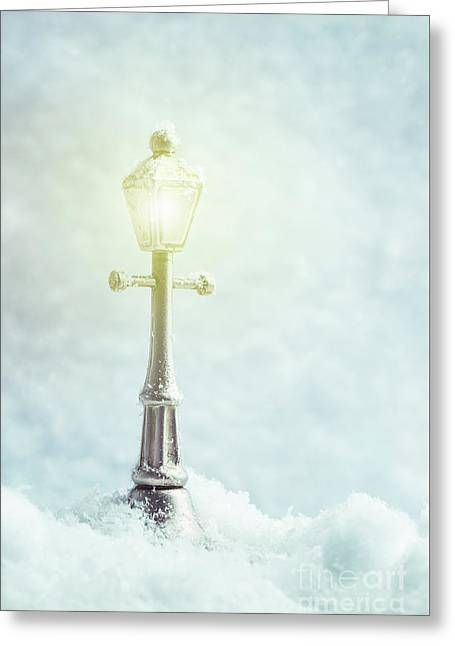 Brightly Lit Lamp Greeting Card