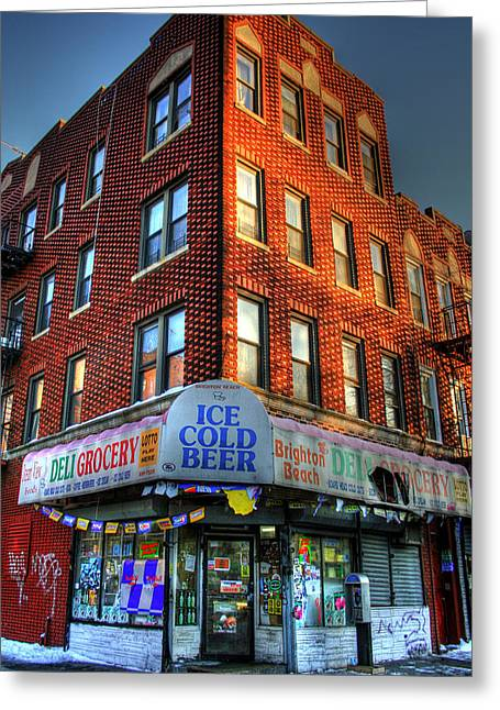 Brighton Beach Bodega Greeting Card by Bryan Hochman