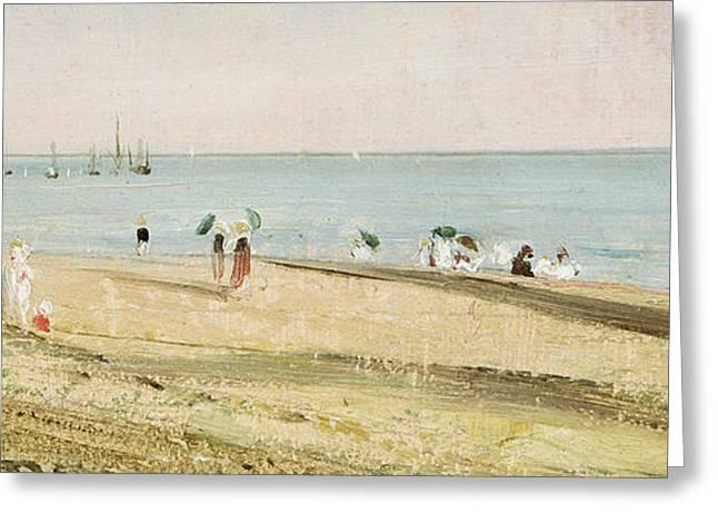 Brighton Beach   Detail Greeting Card by John Constable