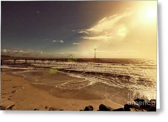 Greeting Card featuring the photograph Brighton Beach Pier by Douglas Barnard