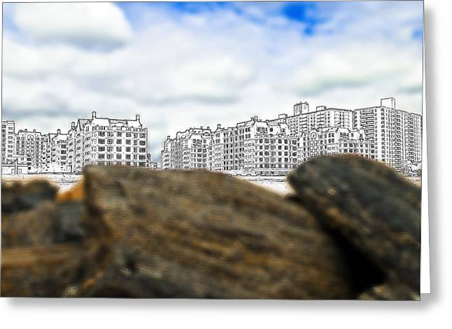 Brighton Beach Greeting Card by Svetlana Sewell