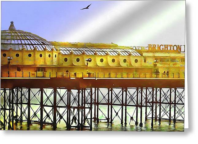 Brighton By The Sea Greeting Card by Dorothy Berry-Lound