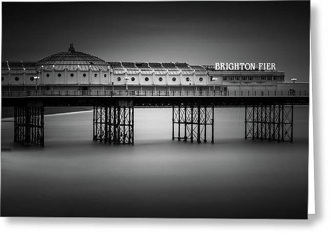 Brighton Pier, England Greeting Card by Ivo Kerssemakers