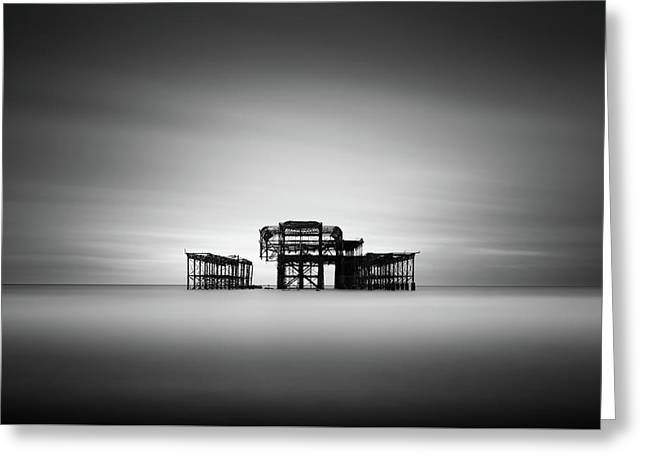 Brighton West Pier Greeting Card by Ivo Kerssemakers