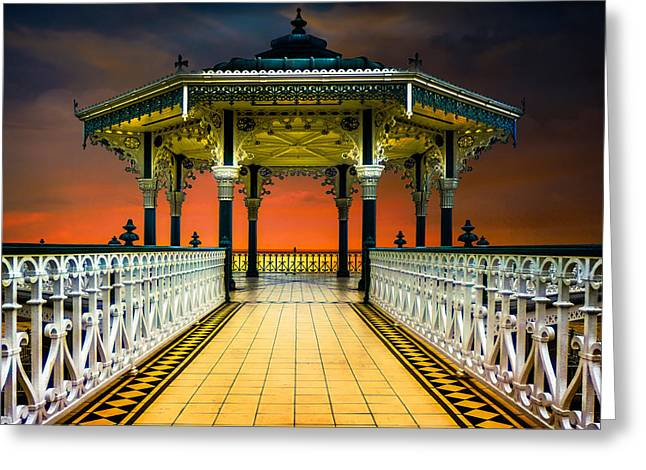 Greeting Card featuring the photograph Brighton's Promenade Bandstand by Chris Lord