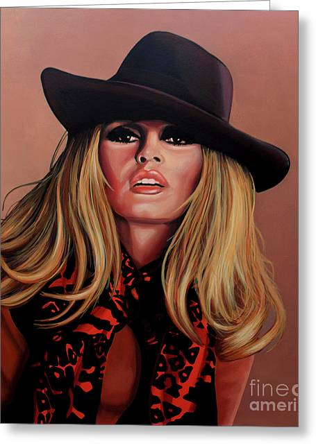Brigitte Bardot Painting 1 Greeting Card