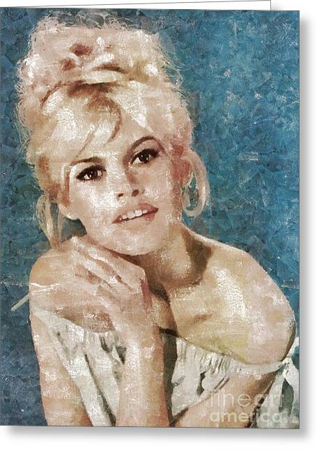 Brigitte Bardot, Actress Greeting Card