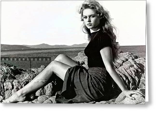 Brigitte Bardot, Cote D Azur Greeting Card