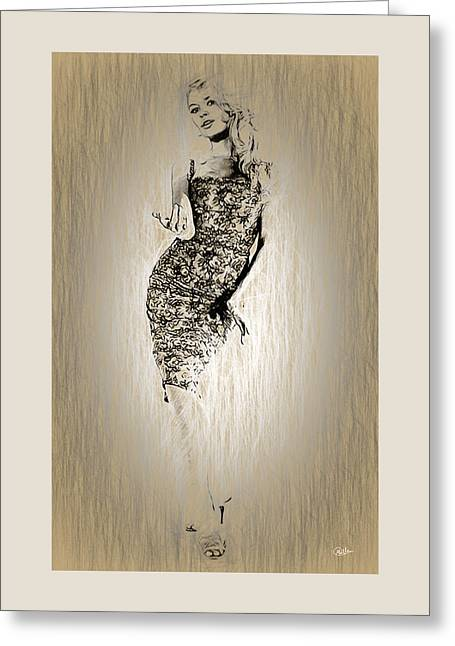 Brigitte Bardot Sketch Greeting Card