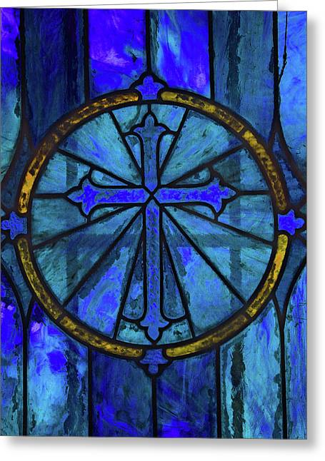 Brillant Blue Greeting Card by Rowana Ray