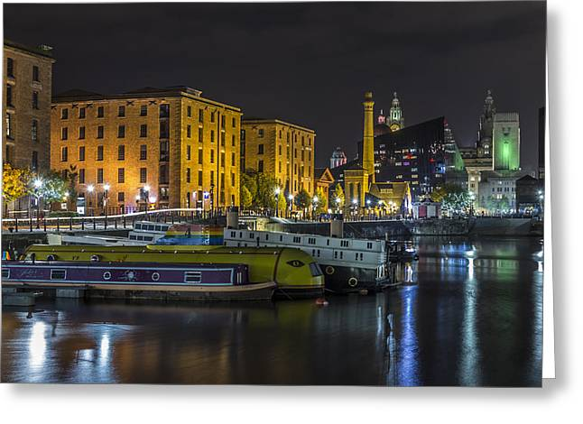 Brilliant Boats And Buildings Greeting Card by Paul Madden