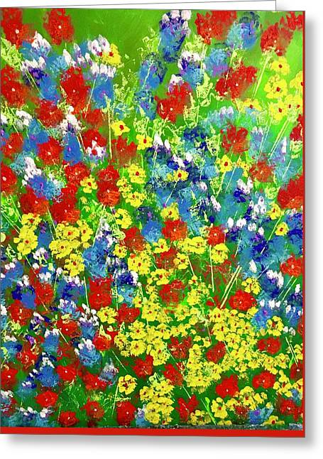 Brilliant Florals Greeting Card