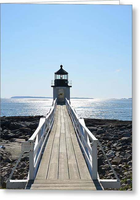 Maine Shore Greeting Cards - Brilliant Light Greeting Card by Corinne Rhode