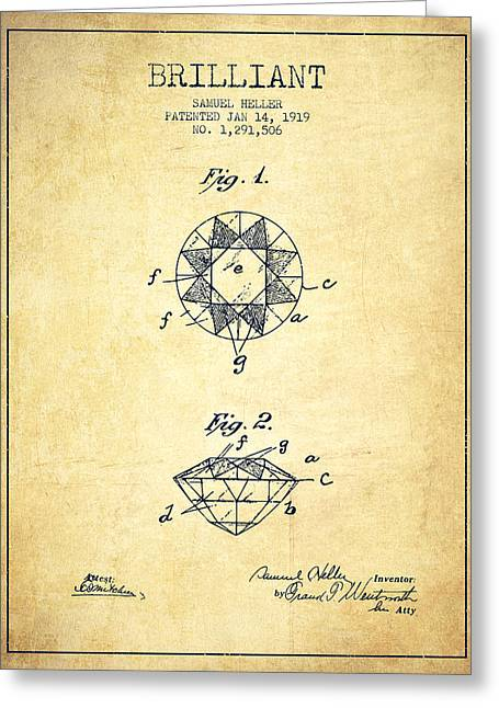 Brilliant Patent From 1919 - Vintage Greeting Card by Aged Pixel