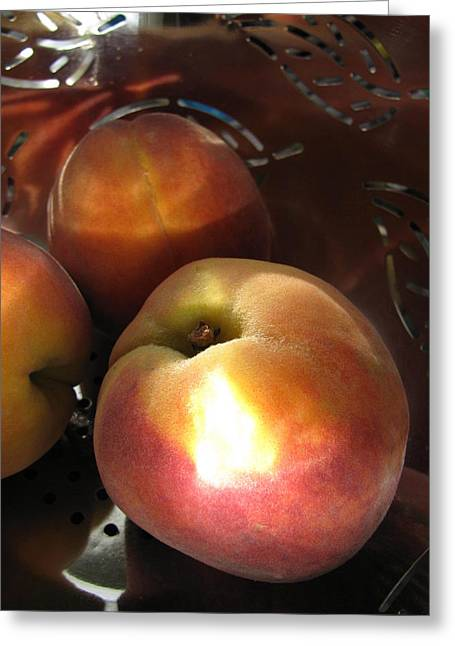 Greeting Card featuring the photograph Brilliant Peach by Lindie Racz