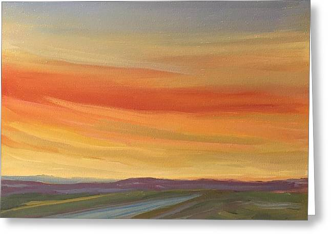 Brilliant Sunrise Greeting Card by Jo Anne Neely Gomez