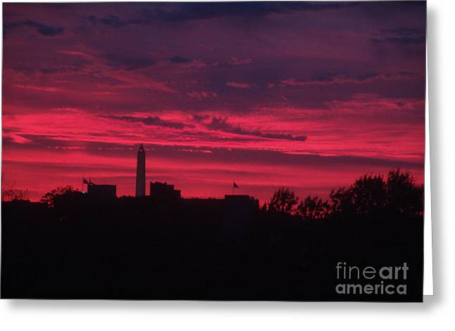 Brilliant Sunset 2 Greeting Card by Rod Ismay