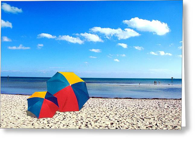 Bring The Umbrella With You Greeting Card by Susanne Van Hulst