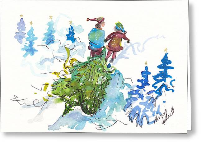 Bringing Christmas Home Again Greeting Card by Michele Hollister - for Nancy Asbell