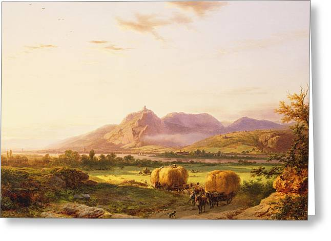 Bringing In The Harvest Greeting Card by Pieter Lodewijk Francisco Kluyver