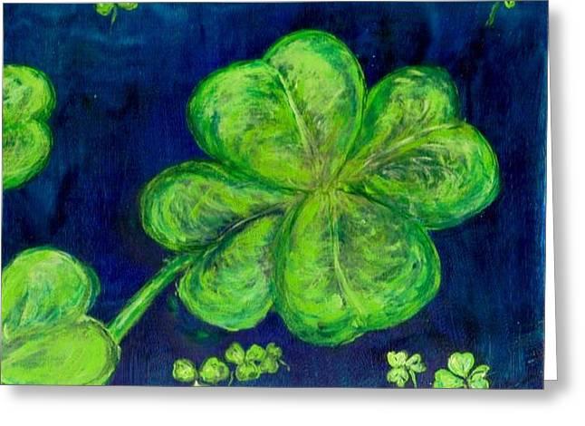 Bringing Luck  Greeting Card by Mary Sedici