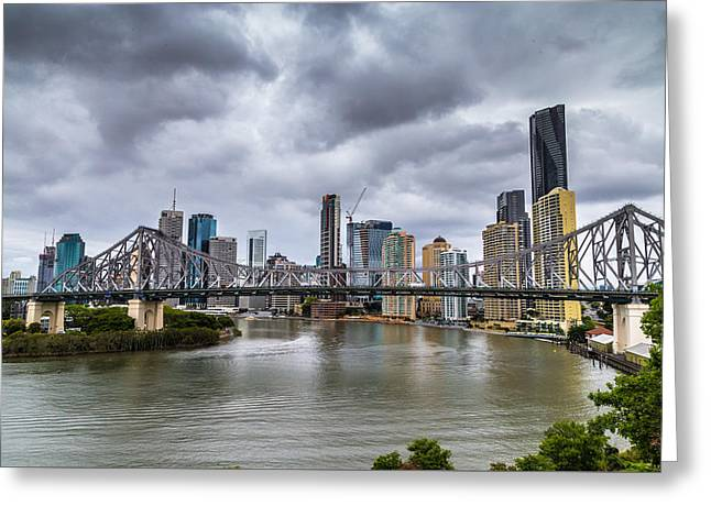 Brisbane's Story Bridge Greeting Card by Keith Hawley