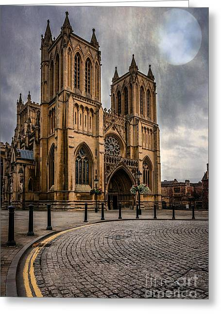 Bristol Cathedral Greeting Card by Adrian Evans