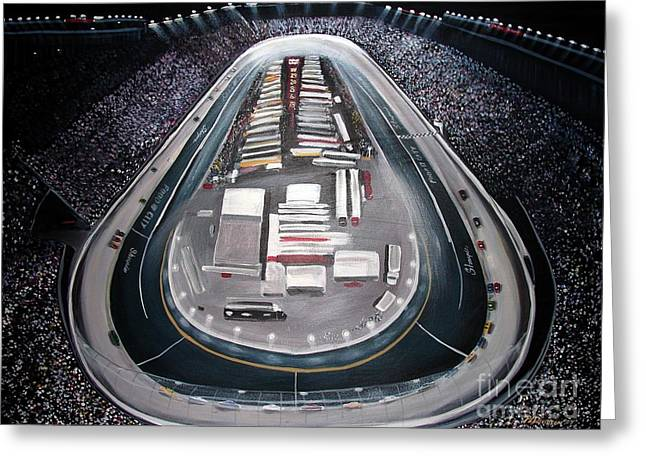 Bristol Motor Speedway Racing The Way It Ought To Be Greeting Card by Patricia L Davidson