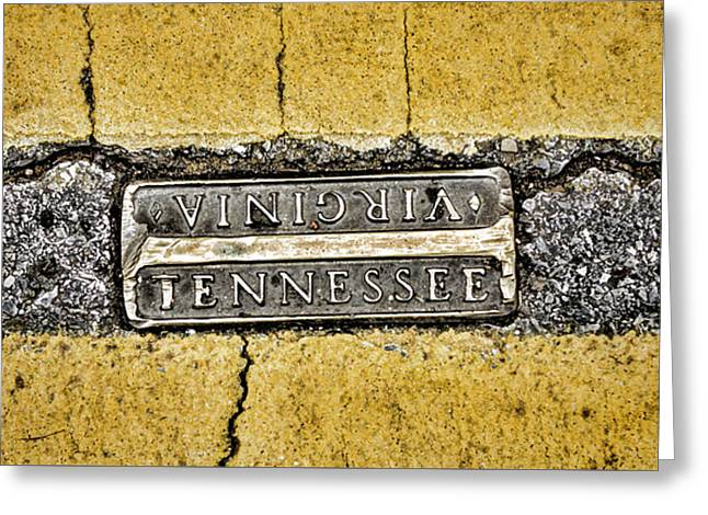 Bristol Tennessee Street Pano Greeting Card by Heather Applegate
