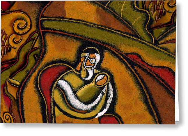 Brit Milah. Baruch Haba. Blessed Be He Who Comes. Sandek On Chair Of Elijah Greeting Card