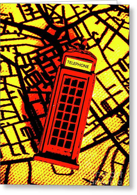Brit Phone Box Greeting Card