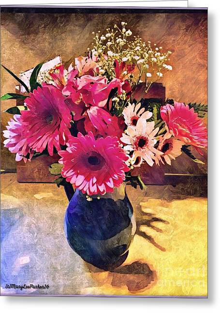 Brithday Wish Bouquet Greeting Card by MaryLee Parker