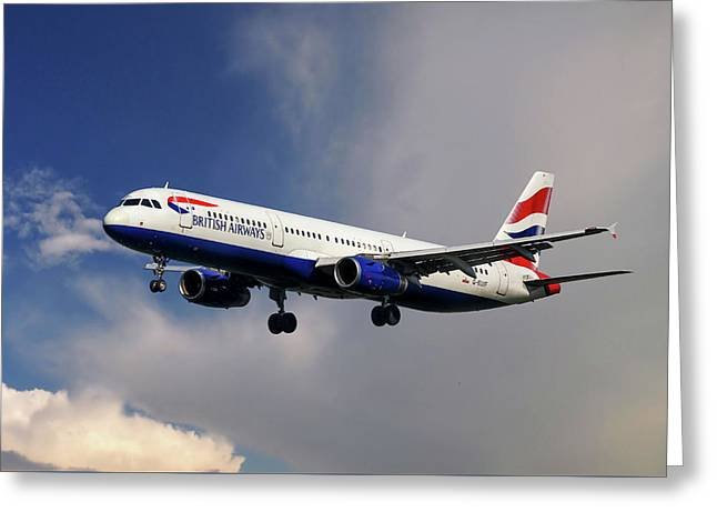 British Airways Airbus A321-231 Greeting Card