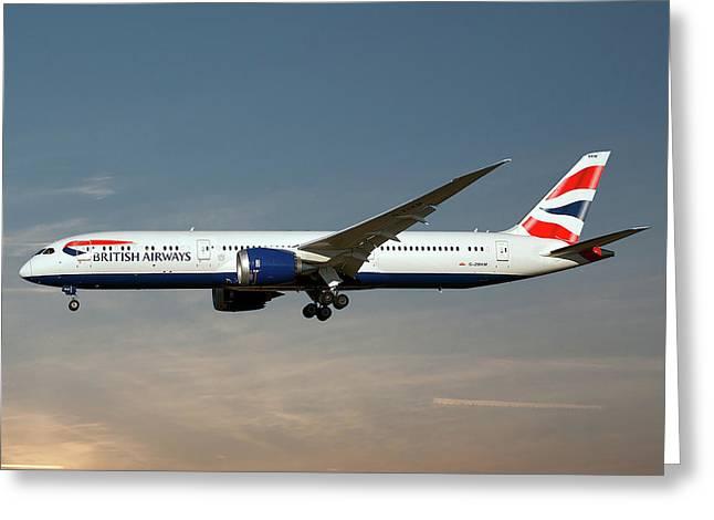 British Airways Boeing 787-9 Dreamliner 16 Greeting Card