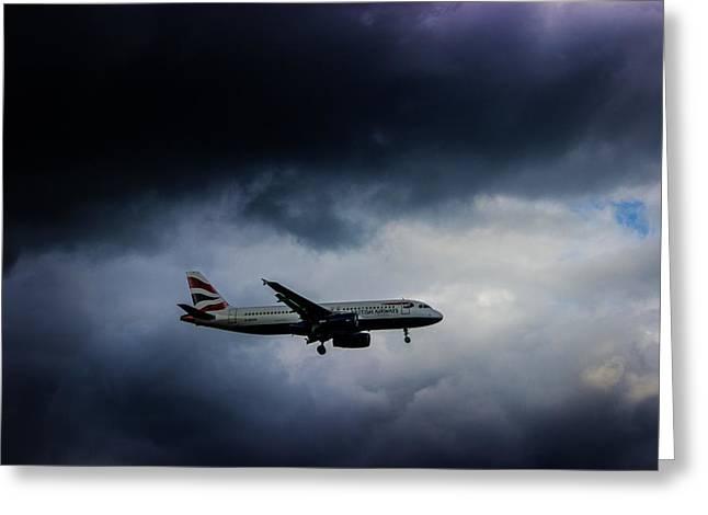 British Airways Jet Greeting Card by Martin Newman